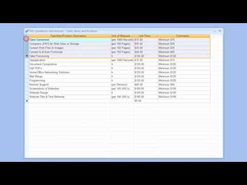 Quotations and Invoices - Add Remove Rows