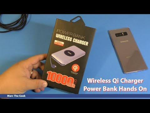 Wireless Qi Charger Power Bank Hands On
