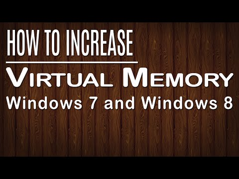 How to increase virtual memory in windows 7/8