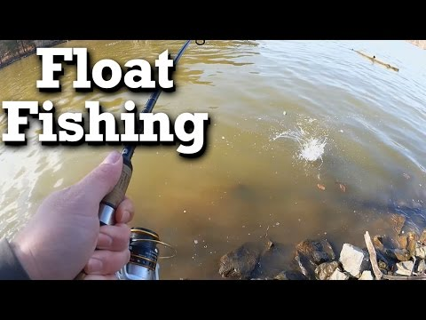 Float fishing artificial baits for winter bluegill and crappie - Surprise Skipjack!