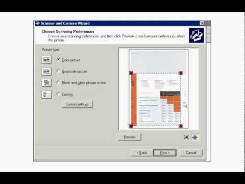 How to use Microsoft Windows XP's Scanner and Camera Wizard to scan pictures, photos, pages, etc.