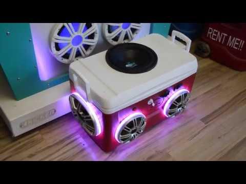 48qt Cooler Radio w/ Polk Waterproof Speakers & Subwoofer