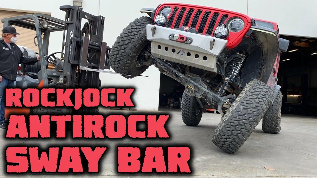 ROCKJOCK ANTIROCK SWAY BAR INSTALL On Our Jeep JLUR!
