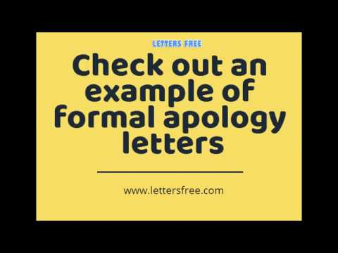 How to write a Apology Letter | Sample Apology Letter Format