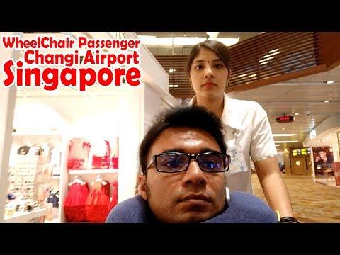 WHEELCHAIR PASSENGER, CHANGI AIRPORT, SINGAPORE