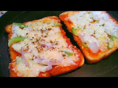 Quick Bread Pizza in Microwave - Bread Pizza on Tawa at Home – New Bread Pizza for Kids - Fun Pizza