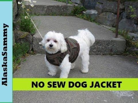 No Sew Dog Jacket- Recycled Fleece Dog Coat Vest