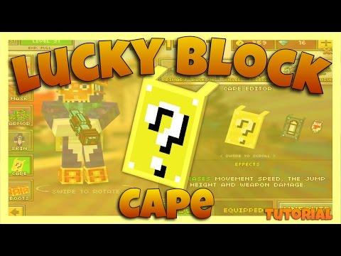Pixel Gun 3D (CAPE TUTORIAL) Cape - 10 Lucky Block