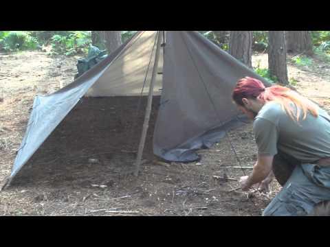 Tarp shelter #1 Single pole tent Style