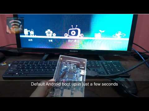 Orange PI Plus 2 mini PC unbox assemble and first boot default Android