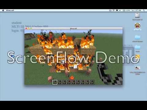 minecraft fire drill!