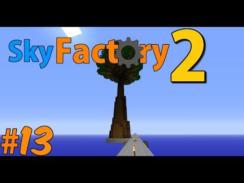 Minecraft Sky Factory 2 - Mega rubber tree! #13