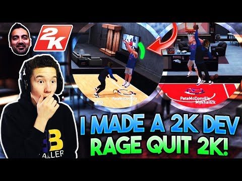 I MADE A 2K DEV RAGE QUIT 2K!! Hilarious 1v1 in MyCourt! - NBA 2K18