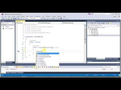 [VS 2015 Tutorial] Console Application in 2 Minutes [1080 HD]