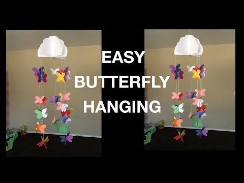 Easy Butterfly Hanging