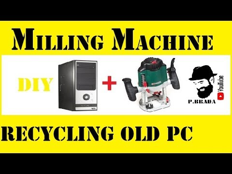 Portable milling machine recycling old pc