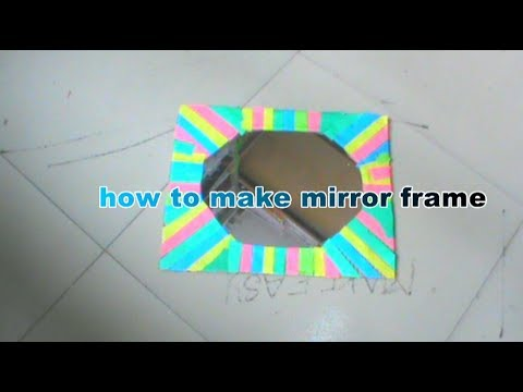 how to make mirror frame  using cardboard at home