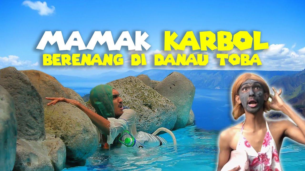 MAMAK KARBOL BERENANG DI DANAU TOBA!!! DI KURAS NYA KOPIKER