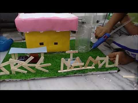 Kids simple rain water harvesting working model - 8 min !!!