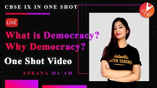 What is Democracy? Why Democracy? in One Shot | CBSE Class 9 Civics/Political Science | Vedantu SST