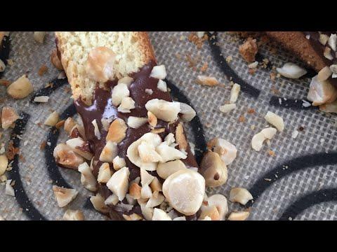 Vanilla Biscotti with Dark Chocolate & Hazelnuts