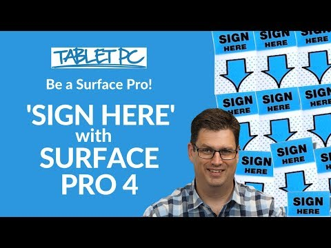 Be a Surface Pro! How to sign a Word document on the Surface Pro 4