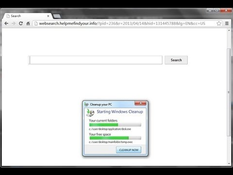 How to remove websearch.helpmefindyour.info virus (removal guide)