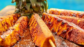 Grilled Pineapple - Brazilian Steakhouse Dessert right off your Grill