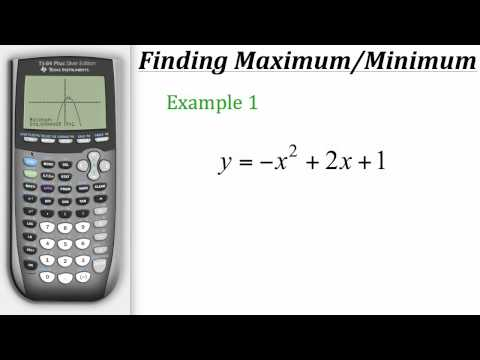 TI Calculator Tutorial: Finding Maximum & Minimum Values
