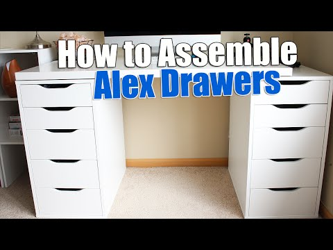 How to Build IKEA Alex Drawers (Build IKEA Furniture)