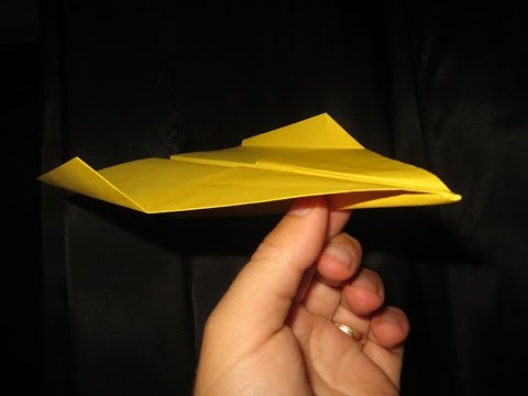 How to Make Cool Paper Airplanes that Fly Far and Straight - Very Easy - Video 25