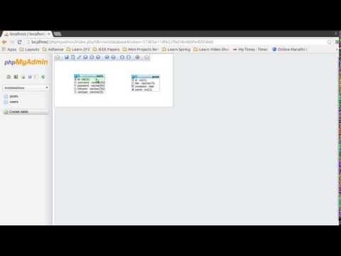 Create Table Relationhips  in MySql Database using phpmyadmin