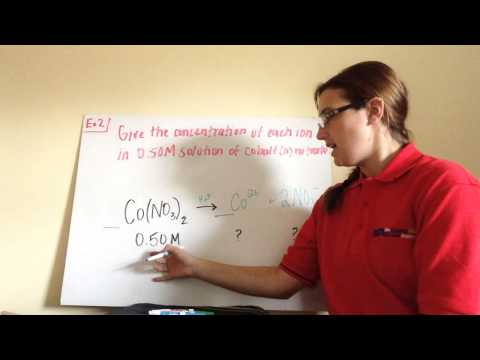 4.2 Concentration of Ions in Solution