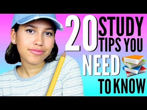 20 Study Tips You NEED to Know!! How to Get Straight A's and Stay Organized!