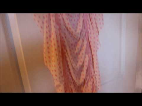 How to make a quick and easy Ruched Scarf or Shawl