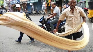Roadside Jaggery Candy Making in a Festival | Amazing Candy Making Skills | How Its Made Candy