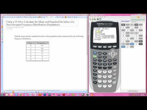 Using a TI-84 to Calculate the Mean and Standard Deviation of a Frequency Distribution