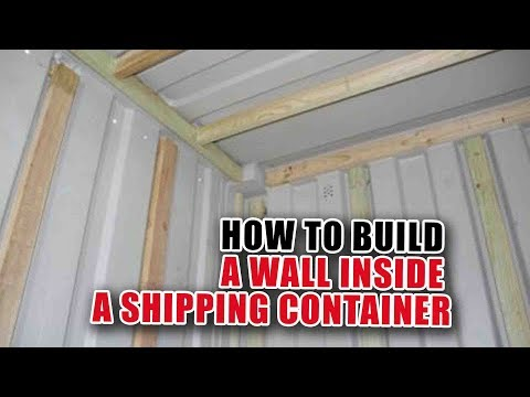 Framing a Wall in a Shipping Container