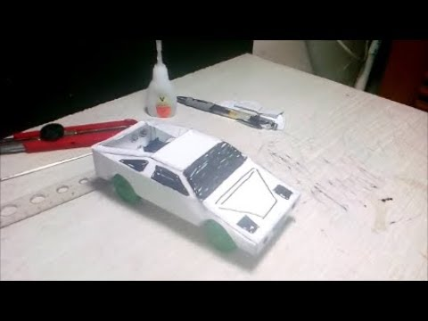 how to make toys sport car paper - paper A4