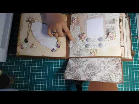 Vintage wedding or anniversary scrapbook album