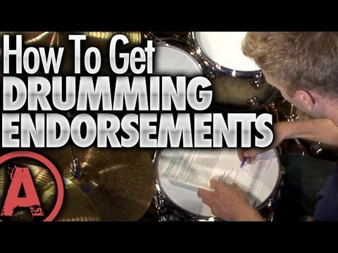 How To Get Drumming Endorsements - Drum Lessons