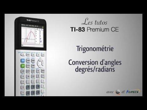 Tutorial TI-83 Premium CE : Conversion angles degrés/radians