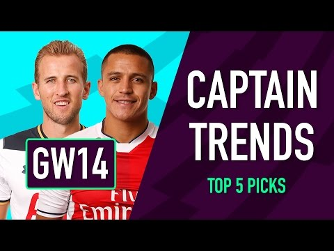 CAPTAINCY TRENDS | Gameweek 14 | Fantasy Premier League 2016/17