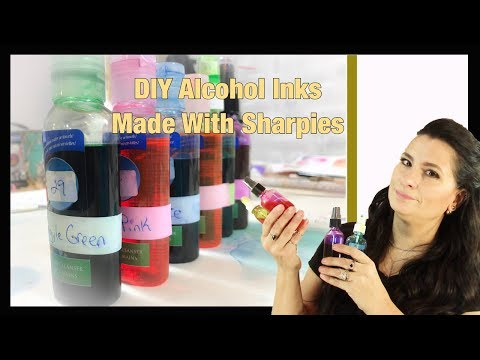 DIY Alcohol Inks made with sharpies (Revised for 2018)