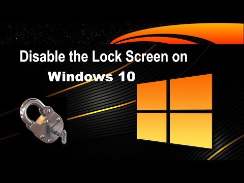 How to Disable/Enable the Lock Screen in Windows 10