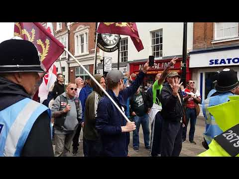 Wellington EDL protest