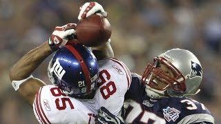 NFL Catches Using the Helmet