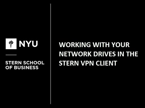 Working with your Network Drives in Stern VPN Client