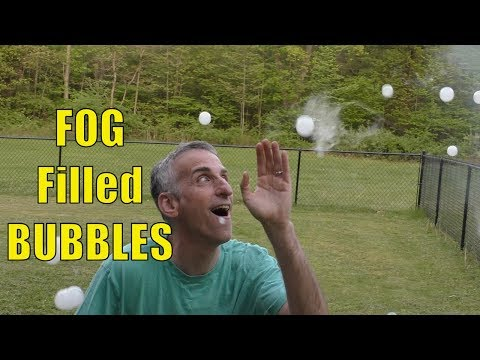 Fobbles - Fog and Bubble Machine Review. FOG Inside of BUBBLES!
