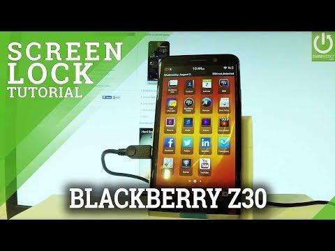 How to Add Password in BLACKBERRY Z30 - Set Up Password